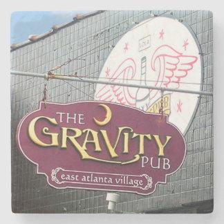 Gravity, EAV, East Atlanta Marble Stone Coaster. Stone Coaster