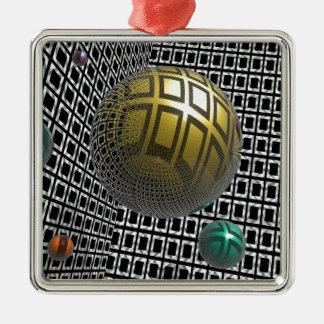 Gravity Free Spheres Metal Ornament