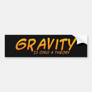 Gravity Is Only A Theory Bumpersticker Car Bumper Sticker