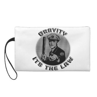 Gravity Its The Law Wristlet Clutches