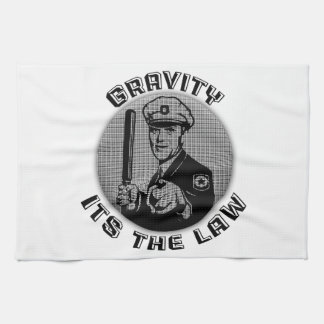 Gravity Its The Law Kitchen Towel