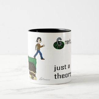 Gravity, just a theory. (Colour version) mug