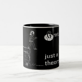 Gravity, just a theory. (White & Black) mug