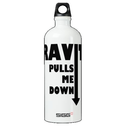 Gravity pulls me down SIGG traveler 1.0L water bottle