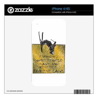 Gravity Skier iPhone 4 Skins