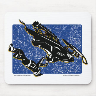 GRAVITY-SLED-in Blue Mouse Pad