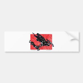 GRAVITY-SLED-in-RED Bumper Sticker