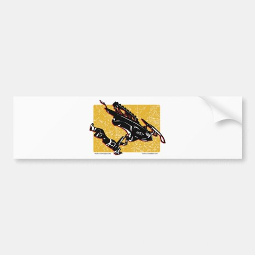 GRAVITY-SLED-in-Yellow Car Bumper Sticker