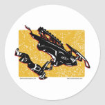 GRAVITY-SLED-in-Yellow Classic Round Sticker