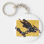 GRAVITY-SLED-in-Yellow Key Chain