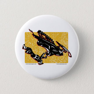 GRAVITY-SLED-in-Yellow Pinback Button