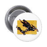 GRAVITY-SLED-in-Yellow Pinback Buttons