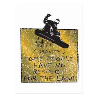 Gravity-Snowboarder Postcard