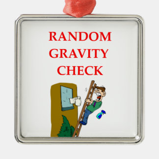 gravity square metal christmas ornament