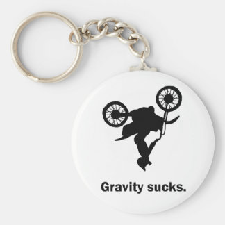 Gravity Sucks Dirt Bike Keychain