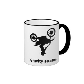 Gravity Sucks Dirt Bike Mug