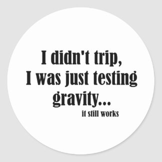 Gravity Works Classic Round Sticker