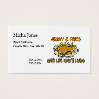 Gravy And Fries Business Card