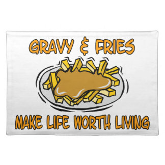 Gravy And Fries Cloth Placemat