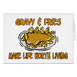 Gravy And Fries Greeting Card