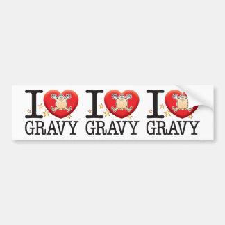 Gravy Love Man Car Bumper Sticker