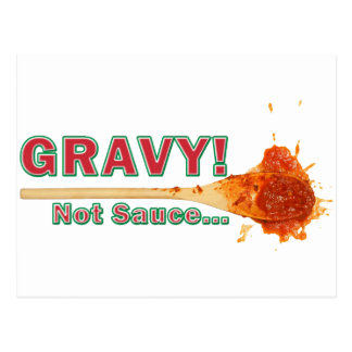 gravy not sauce postcard