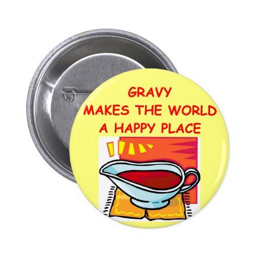 gravy pinback buttons
