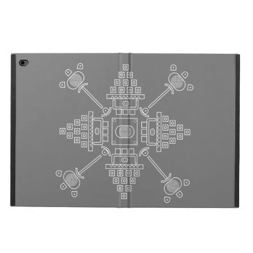 gray abstract drawing powis iPad air 2 case