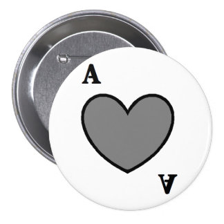 Gray Ace Pinback Buttons