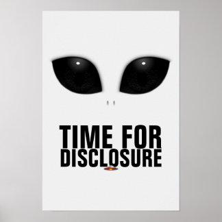Gray Alien Eyes Disclosure poster