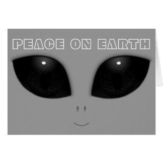 Gray-Alien Eyes Funny Christmas Card