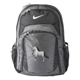 Gray American Saddlebred Horse Nike Backpack