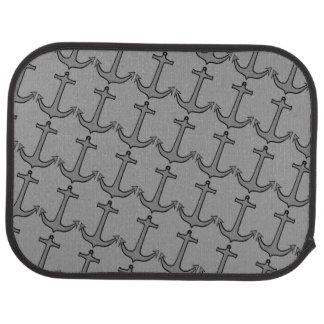 Gray Anchors on Gray Rear Car Floor Mat