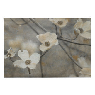 Gray and Beige Classic Dogwood Placemat