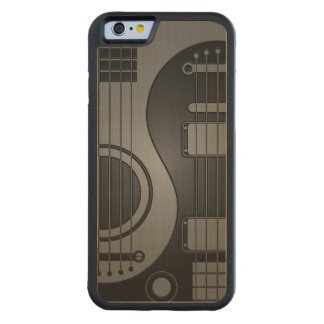Gray and Black Acoustic Electric Guitars Yin Yang Carved® Maple iPhone 6 Bumper