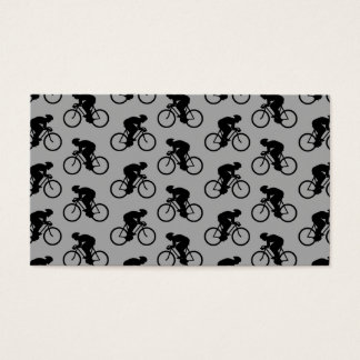 Gray and Black Bicycle Pattern. Business Card
