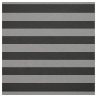 Gray and Black Bold Stripes, Halloween Fabric