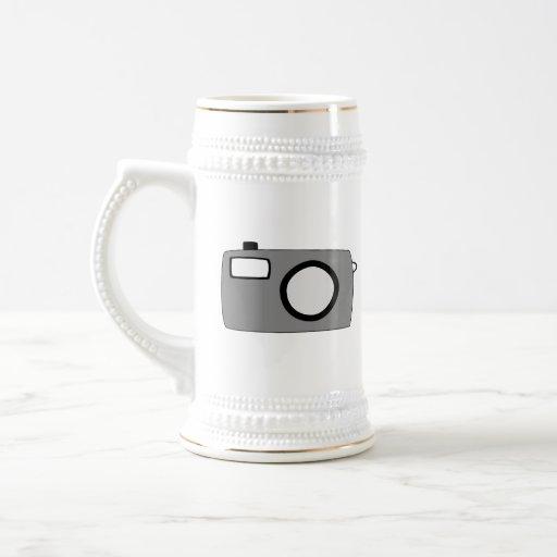 Gray and Black Camera. On White. Mug