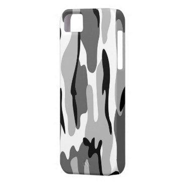 Gray And Black Camouflage iPhone 5G Case