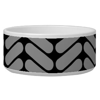 Gray and Black Chevron Pattern. Bowl