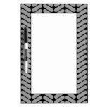 Gray and Black Chevron Pattern. Dry-Erase Whiteboard