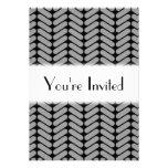Gray and Black Chevron Pattern. Personalized Invitations