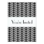 Gray and Black Chevron Pattern. 5x7 Paper Invitation Card