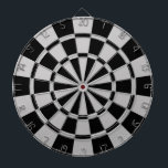 "Gray And Black Dartboard With Darts<br><div class=""desc"">Gray And Black Dart Board</div>"