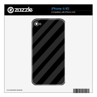 Gray and Black elegant lines Skin For iPhone 4S