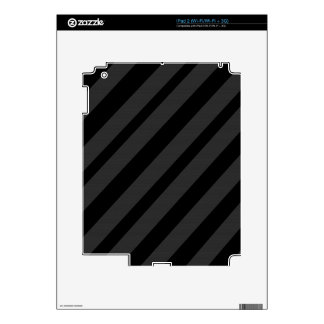 Gray and Black elegant lines Skins For iPad 2