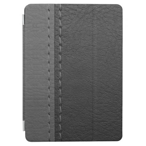 Gray And Black (Faux) Leather iPad Air Cover