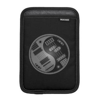Gray and Black Guitar and Bass Yin Yang iPad Mini Sleeve