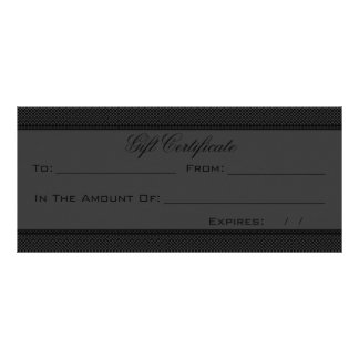 Gray And Black Heart Damask Rack Card