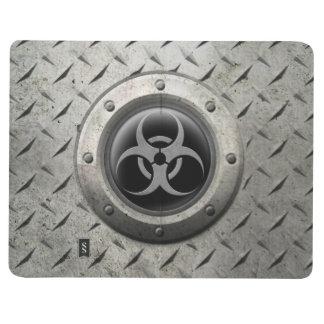 Gray and Black Industrial Biohazard Steel Effect Journal